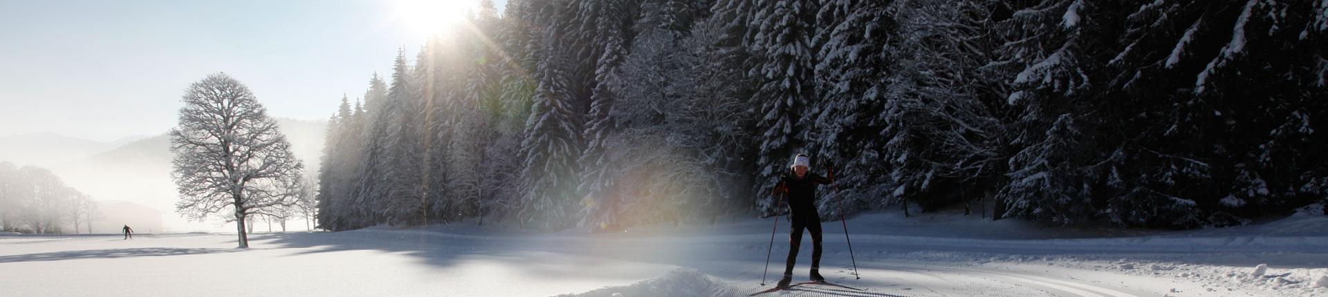 Langlaufen im Winterurlaub