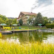 Badeteich und Liegewiese Hotel Kielhuberhof
