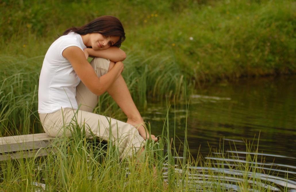 Entspannen an Teich