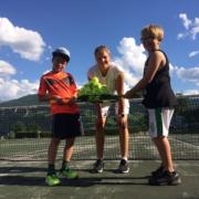 Tennis mit Trainerin Chiara