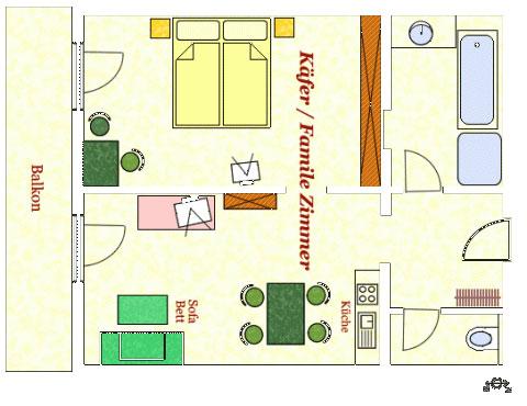 Grundriss Appartement Käfer Hotel Kielhuberhof