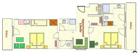 Grundriss Appartement Libelle Hotel Kielhuberhof